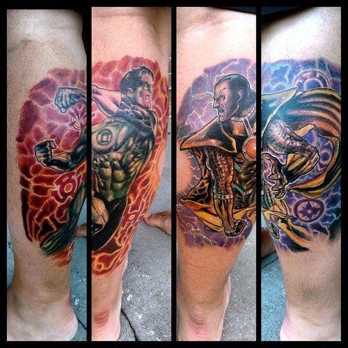 Greenlantern Sinestro Dccomics Tattoo Mrttattoo Tattooartist  Check This Out Torstenmatthes Fullcustomtattoo DCcomic