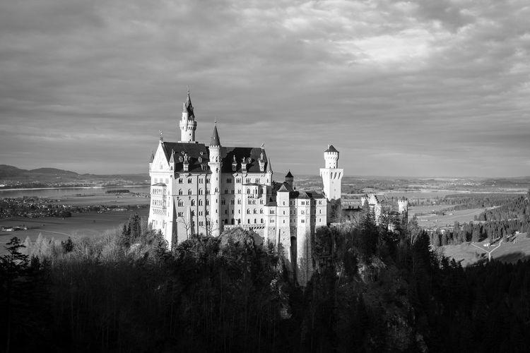 Exterior of neuschwanstein castle