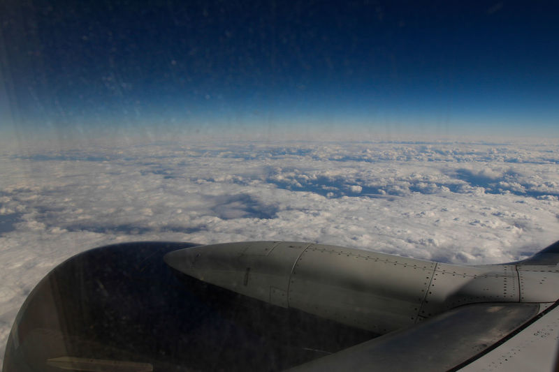 Airplane turbine Airplane Airplane Wing Clouds Plane Wing Sky And Clouds Turbine Turkey Wing