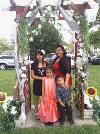 Me My Mom Lil Bro Nd Sis ;) I Love My Fam