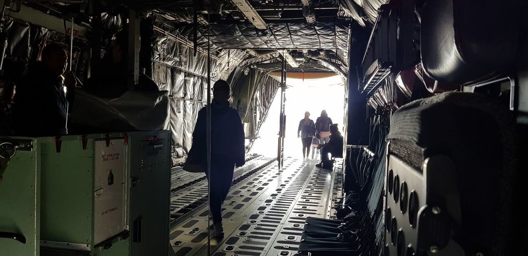 Airplane Cargo Military Airplane Loading Industrial