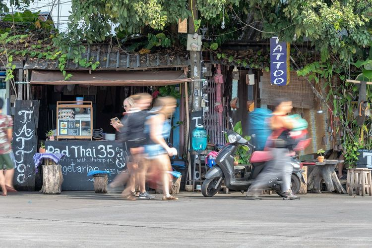 Blurred Motion Motion City Adult Street Women Transportation People Lifestyles Road Architecture Men Day Real People Walking on the move Group Of People Bicycle Speed Outdoors Riding Thailand Travel Destinations Travel Photography Thailandtravel