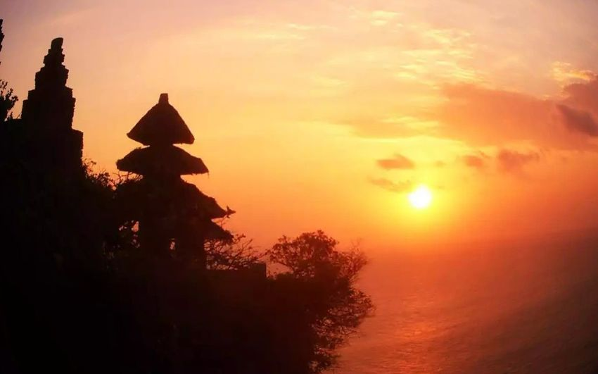 Wonderful evening at uluwatu tample