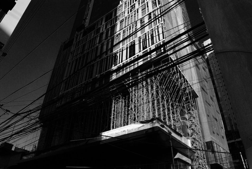 Low Angle View Building Exterior Built Structure Architecture City Sky Lines Philippines