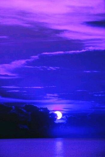 Purple Night Nature Sea Scenics Outdoors Astronomy Moon No People Water Cloud - Sky Beauty In Nature Horizon Over Water Sky Sunset Space Astrology Sign Galaxy