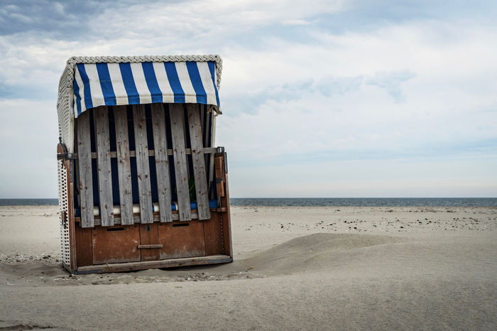 Amrum Amrum Kniepsand Bad Weather Beach Beachchair Beachphotography Beauty In Nature Closed Cloud - Sky Day Horizon Over Water Nature No People No Summer Nobody Sand Scenics Sea Sky Strand Strandkorb The EyeEm Collection Premium Collection Getty Images Sommergefühle The Week On EyeEm