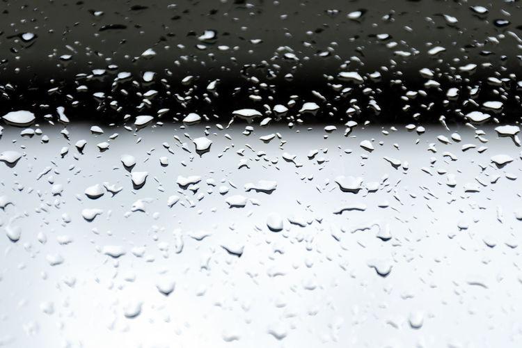 Large raindrops
