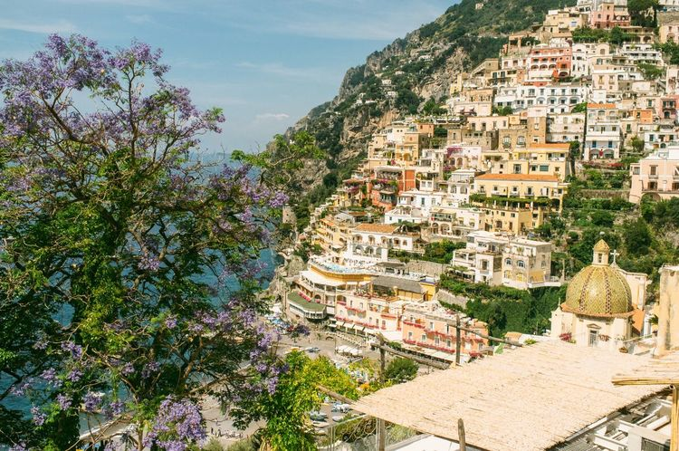 Architecture City Cityscape Day Elevated View Hill Italy Mountain Outdoors Positano Positano, Italy Sea Sky Tourism Town TOWNSCAPE Travel Destinations Tree Vacation
