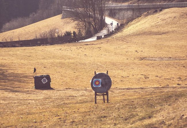 Targets for Bowery on a Field. behind a Road . From My Doorstep The Traveler - 2015 EyeEm Awards The Street Photographer - 2015 EyeEm Awards Nature On Your Doorstep