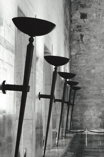 Unburned Torches Museum Blackandwhite
