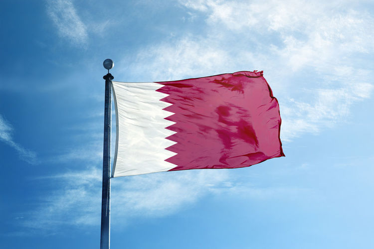 Abstract Cloud - Sky Day Daylight Design Environment Flag Flags Low Angle View Mast Nature No People Outdoors Pole Qatar Sky Vawe