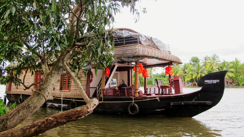 Palm Tree Tree Outdoors Travel Destinations Water Day Nature Nautical Vessel No People Sky Vacations Greenery Peace And Tranquility Incredibleindia Gods Own Country Scenics Nature Backwaters House Boat Sea View