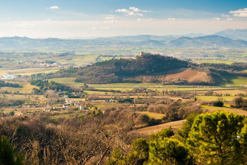 Landscape with the hill of Gradara, near Pesaro Gradara Hills Nature Nature Photography Panorama Panoramic Panoramic View Sunny View Hill Horizon Landscape Marche Outdoors Pesaro Scenics Sky