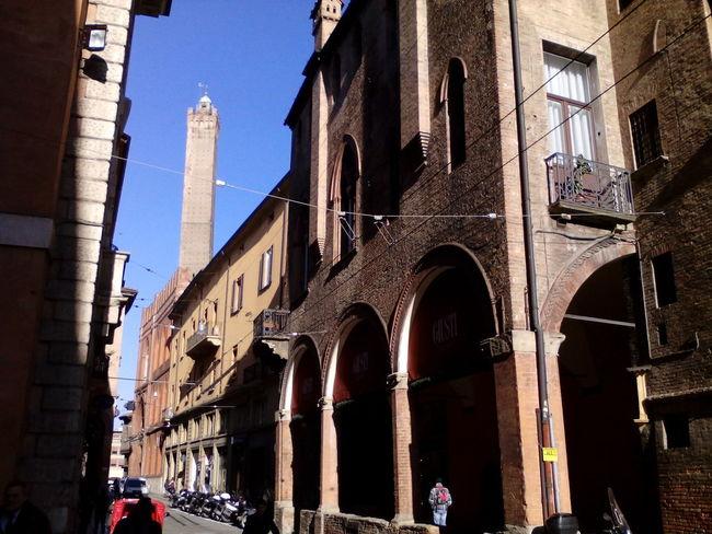 Torre Degli Asinelli Bologna Via Castiglione Architecture Arch History Travel Destinations Building Exterior Built Structure Architectural Column