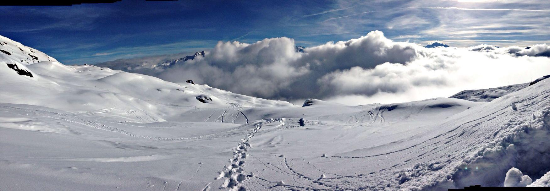 Mountains Snowboarding Nature Freeride