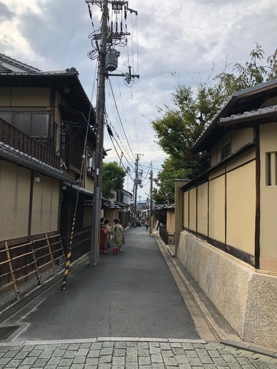 A side street. The Way Forward Maiko Japanese Culture Building Exterior Residential District Cloud - Sky