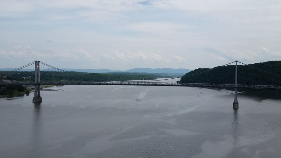 View of Mid-Hudson bridge from Walkway Over the Hudson pedestrian bridge in Poughkeepsie, NY USA Need For Speed