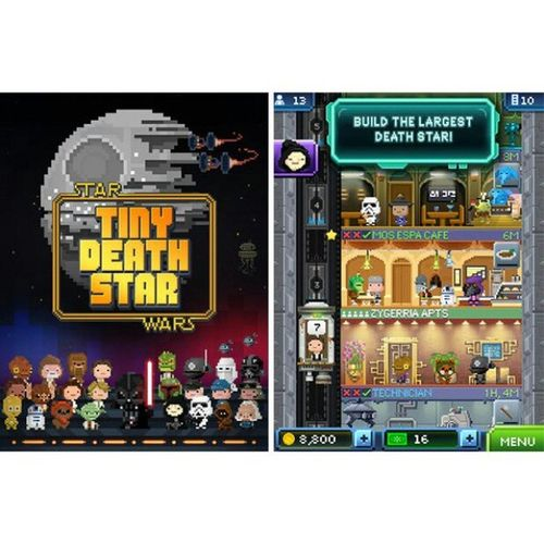 Build your Empire with TinyDeathStar app in glorious 8bit ! Starwars ILoveRetroShit