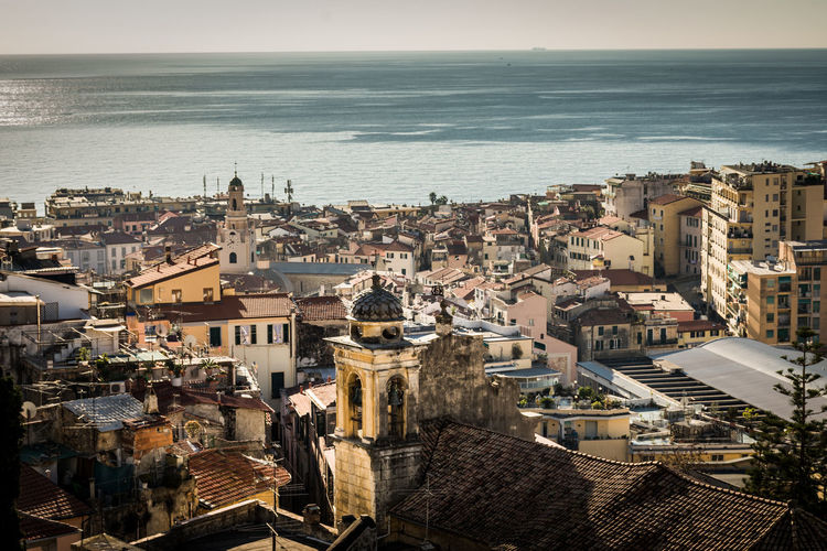 San Remo villagge Architecture Building Building Exterior Built Structure City Cityscape Crowd Crowded Day High Angle View Horizon Horizon Over Water Nature Outdoors Residential District Sea Sky TOWNSCAPE Travel Destinations Water
