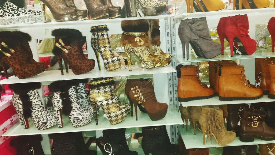 Shopping ♡ Withfamily Boots❤ Bootlove Ontheshelf Variety Colors TheWeekOnEyeEM Beautifully Organized