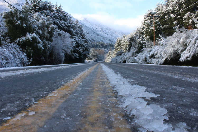 Tree Mountain Snow Cold Temperature Winter Road Frozen Sky Cloud - Sky Landscape