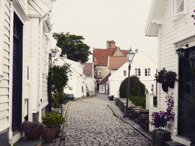Old Town Stavanger Noorwegen  Norway NorwayTourism Norway Style Architecture