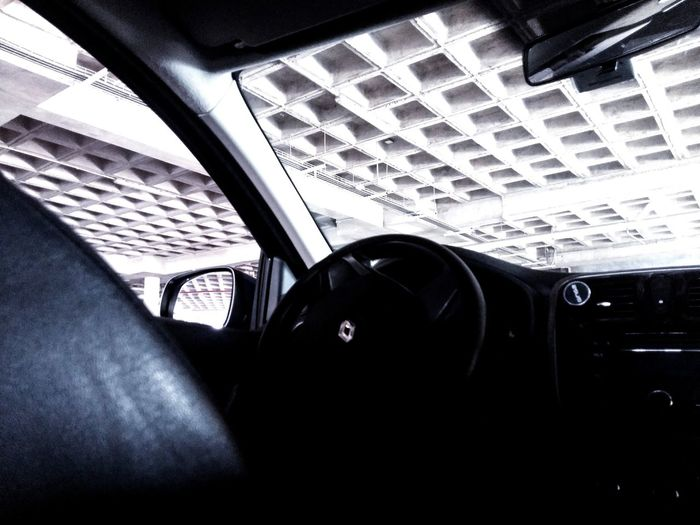Renault Renault Squares Cealing Grid Steering Wheel Car Mirror No People Car Indoors  Vehicle Interior Transportation Window Mode Of Transport Car Interior Land Vehicle