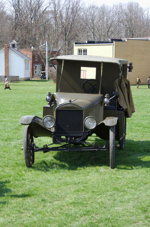 Antique Ambulance Ambulance Architecture Bare Tree Building Exterior Built Structure Day Field Golf Golf Course Grass Lawn Nature No People Outdoors Transportation Tree Ww1