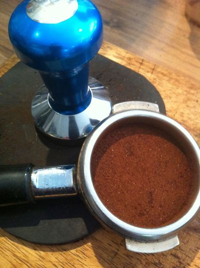 Blue Coffee Tamp Blue Coffee Tamper Coffee And Tamp Coffee Tamp With Coffee Ground Coffee LJ Coffee House Tampa