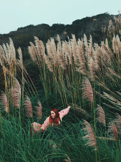 Parallel Universe Organsinsleep Laurenluck Goddess Mothernature Redhead Colors Witch Gypsy Landscape Odd Woman Supernatural 35mm Nature Magic