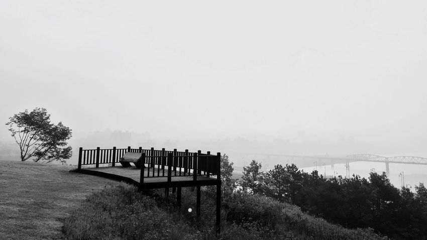 River View Deck Hello World Relaxing Good Morning Monochrome 금강정지산유적 Blackandwhite