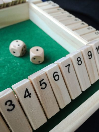 Close-Up Of Dice Game