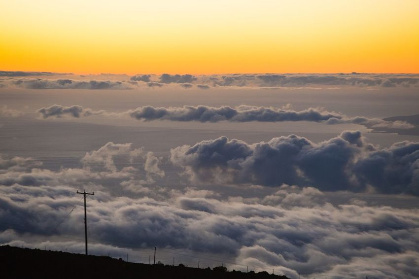 Memorable Dreamy Haleakala Cloudy Sunset No People Scenics Tranquil Scene Outdoors Cloud - Sky Day