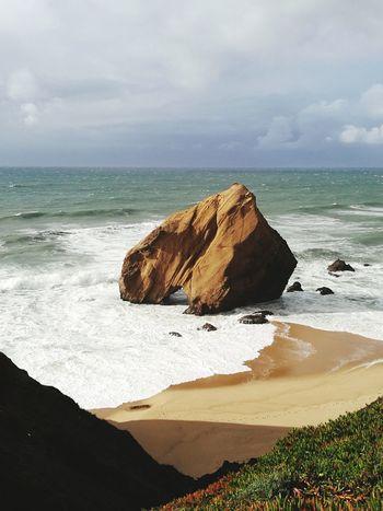 Winter sunshine 🌤️⛱️🌊 Rock Formation Beachphotography Ocean Sunlight Waves, Ocean, Nature Nature Landscape