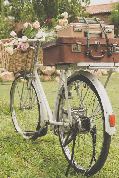 Vintage bicycle on the field with a basket of flowers and bag Cycle Retro Retrostyle Travel Travel Photography Traveling Travelling Bag Baggage Basket Bicycle Bicycle Basket Bikecycle Bikecycle Vintage Cyclephotography Day Flower Land Vehicle Mode Of Transport No People Old-fashioned Oldfashion Outdoors Transportation Wheel
