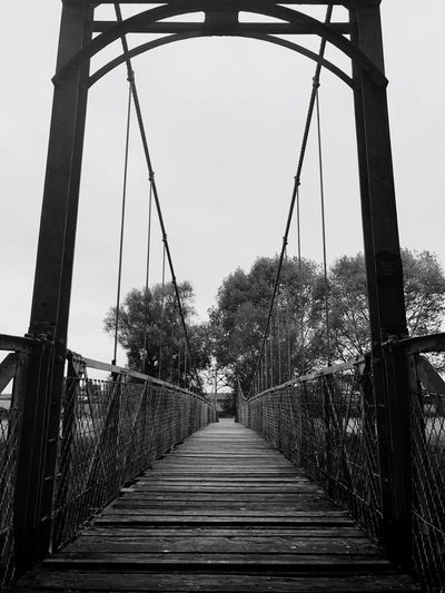 River Wye Bridge River Black And White Autumn