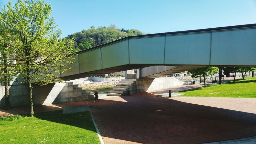 Outdoors Architecture Light And Shade Contrast Of Shadows Shadow And Light Sunlight, Shades And Shadows Sunlight ☀ Sunlight And Shadows Bridge View Nature Bilbao Day Sunny Bridges Architecture