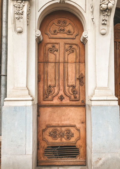 Architecture Entrance Built Structure Door Building Exterior Building Art And Craft Closed Arch Day Craft Security Safety Protection History The Past Design Creativity Outdoors Ornate Carving