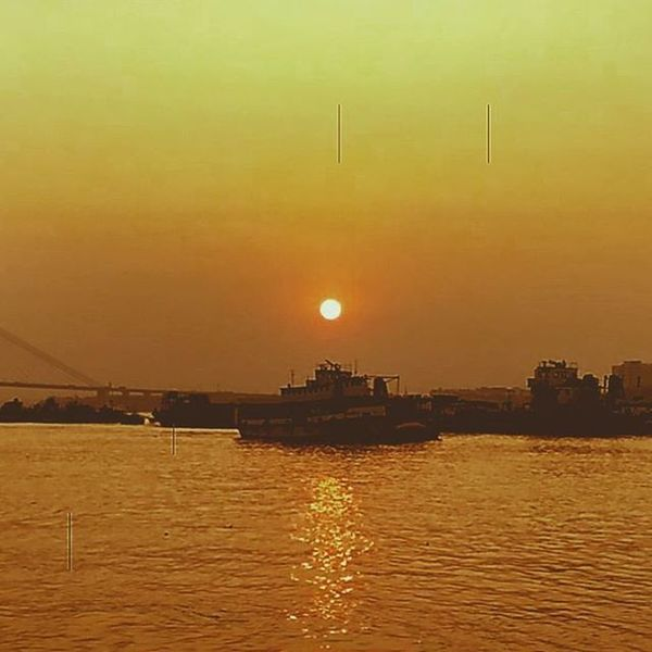 Sunset River Ganga Ghat Ferry Kolkata