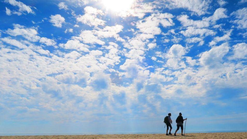 The Great Outdoors - 2017 EyeEm Awards България Bulgaria Irakli Black Sea♥ Walki Talki Walking Sun Sky Two People Sunlight Blue Sky Sand Water Beach Sand Water Sky [ Sommergefühle