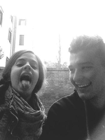 Piccioncini Amore Mio ❤ Stupidi Linguaccia Taking Photos Sun ☀ IPhone Selfie ✌