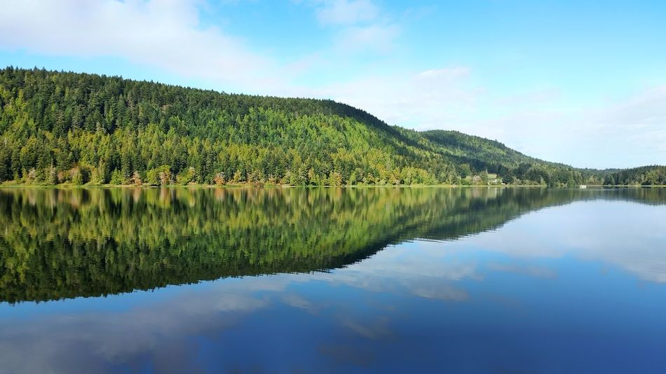 Reflection Lake Water Sky Scenics Nature Beauty In Nature Mountain Tree Lake View Country Life Cloud - Sky Outdoors Landscape Tranquility Symmetry No People Day