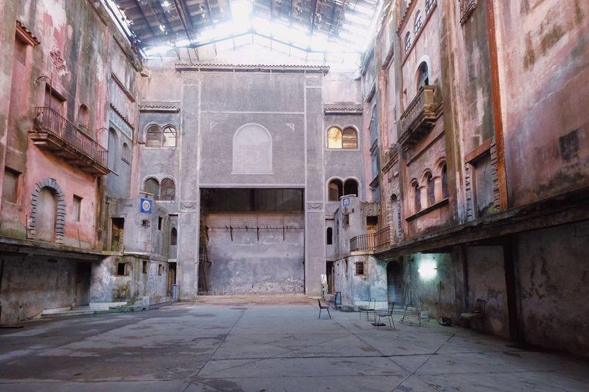 Crumbling theater Cuba