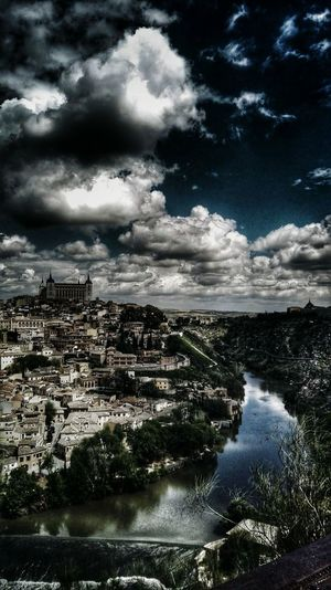 Water Cloud - Sky High Angle View Building Exterior Scenics Tranquil Scene Nature Blue Water Toledo Spain España Spain Is Different