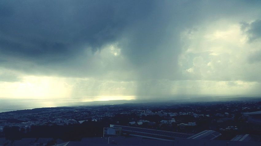 Rain On The Sea Rainy Days Big Clouds city Cityscape Cloud - Sky Architecture No People Outdoors Sky Storm Cloud
