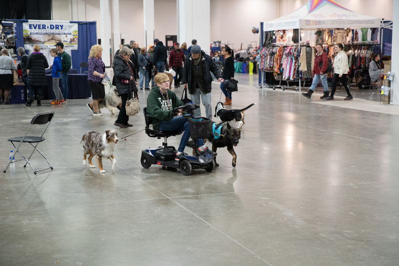 Group of people walking on floor