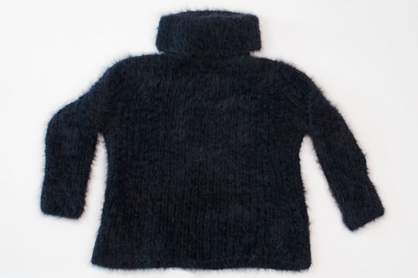 black angora sweater on white background Angora Sweater Angora Goat Autumn Cardigan Fashion Homemade Knitting Winter Angora Rabbit Clothing Mohair Sweater Natural Fibers Softness Sweater Wool