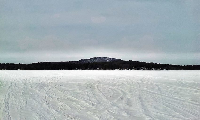 Snowmobiling across Bear Pond, Bear Mountain in the distance Eye Em Nature Lover Landscape EyeEm Best Shots - Landscape Enjoying Life