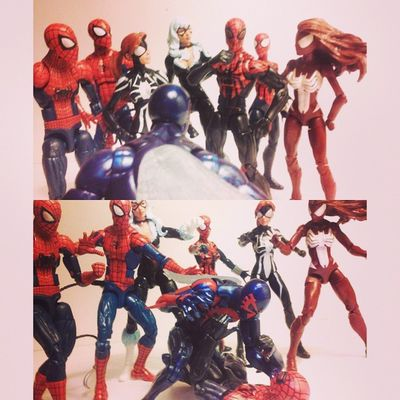 "2099 Spiderman-""you..."" Superior spiderman-""me!?"" 2099 spiderman-""yes you!,you think you can fool me? i know you're not really Peter parker,i know its you otto octavious and because of your stupidity you've ruptured the future"" Marvellegends Hasbro Infinitieseries Baf Collector Figurecollection Spideyverse Webwarriors 2099spiderman Spiderman Figures Figurelife Surperiorspiderman BLackCat Peterparker Spiderwoman Maydayparker Feliciahardy Figureslover Amazingspiderman Marvel Collection Webwarrior Disney Miguel hobgoblinwave Jessicadrew acba"