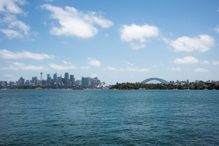 Sydney, New South Wales/Australia-December 21,2016: North shore view over the urban cityscape with the Sydney Opera House and Harbour Bridge in Sydney, Australia Sydney Australia River Parramatta Harbour Water Nature Sky Architecture Waterfront City Urban Skyline Cityscape Office Building Exterior Scenics - Nature Skyscraper View Into Land Sydney Opera House Sydney Harbour Bridge Arch Arch Bridge Boat Nautical Vessel Transportation Development